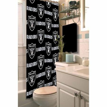 The Northwest Company NFL Oakland Raiders Logo Fabric Shower Curtain - Logo Nfl Shower Curtain