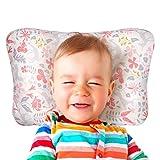Baby Pillow Newborn Flat Head Prevention Head Support 100% Natural Cotton Machine Washable