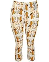 Egyptian Hieroglyphics Print Capri Leggings - One Size