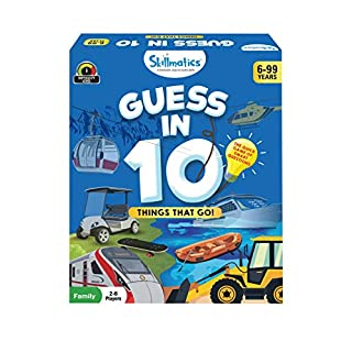 Skillmatics Educational Game : Things That Go! - Guess in 10 (Ages 6-99) | Card Game of Smart Questions | General Knowledge for Kids, Adults and Families | Gifts for Boys and Girls