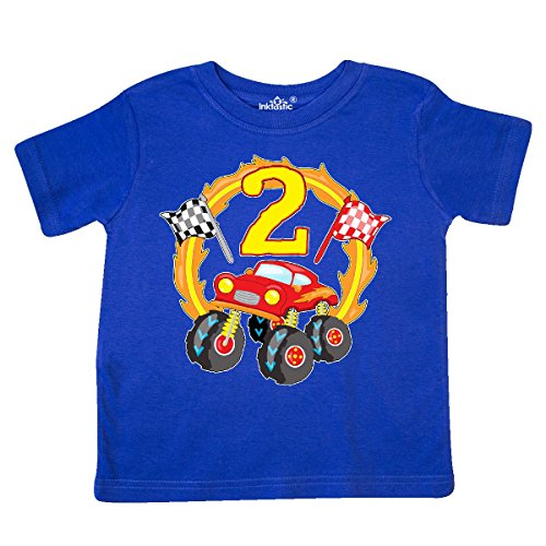 inktastic Monster Truck 2nd Birthday Toddler T-Shirt 3T Royal Blue 2f4d9