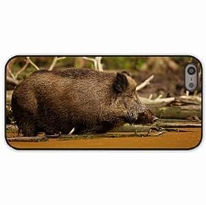 iPhone 5 5S Black Hardshell Case wild boar vepr water Desin Images Protector Back Cover