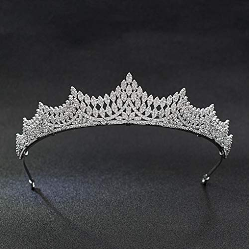 Classic Crystals CZ Cubic Wedding Bridal Tiara Crown Women Hair Accessories Jewelry CH10039