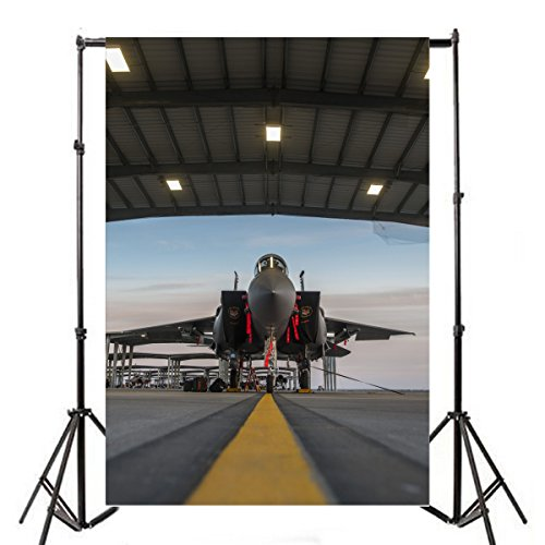 Yeele 6x9ft Military Fighter Photo Backdrops Vinyl Jet Aircraft Military Base Jet Aircraft Photography Background Jetliner Adult Pilot Portrait Photo Booth Video Shoot Wallpaper Studio Props