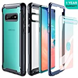 Samsung Galaxy S10 Case - FITFORT Full Body Rugged Heavy Duty Clear Bumper Case with Free Screen Protector, Shock Drop Proof Impact Resist Extreme Durable Protective Cover for Galaxy S10 (2019)