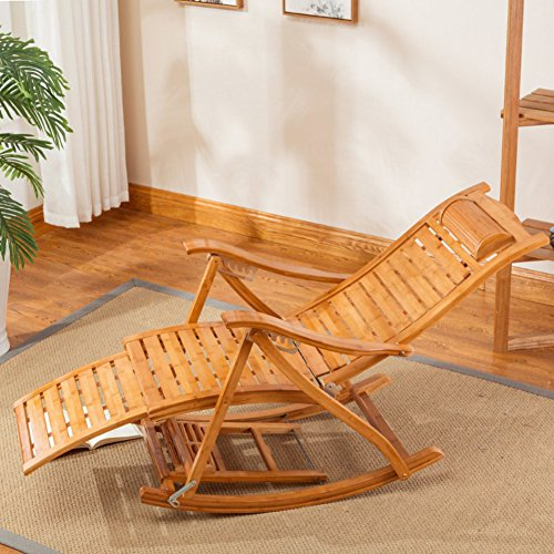 Rocking chair lounge chairs adult folding siesta chair nap bed old people (Bamboo Canopy Beds)