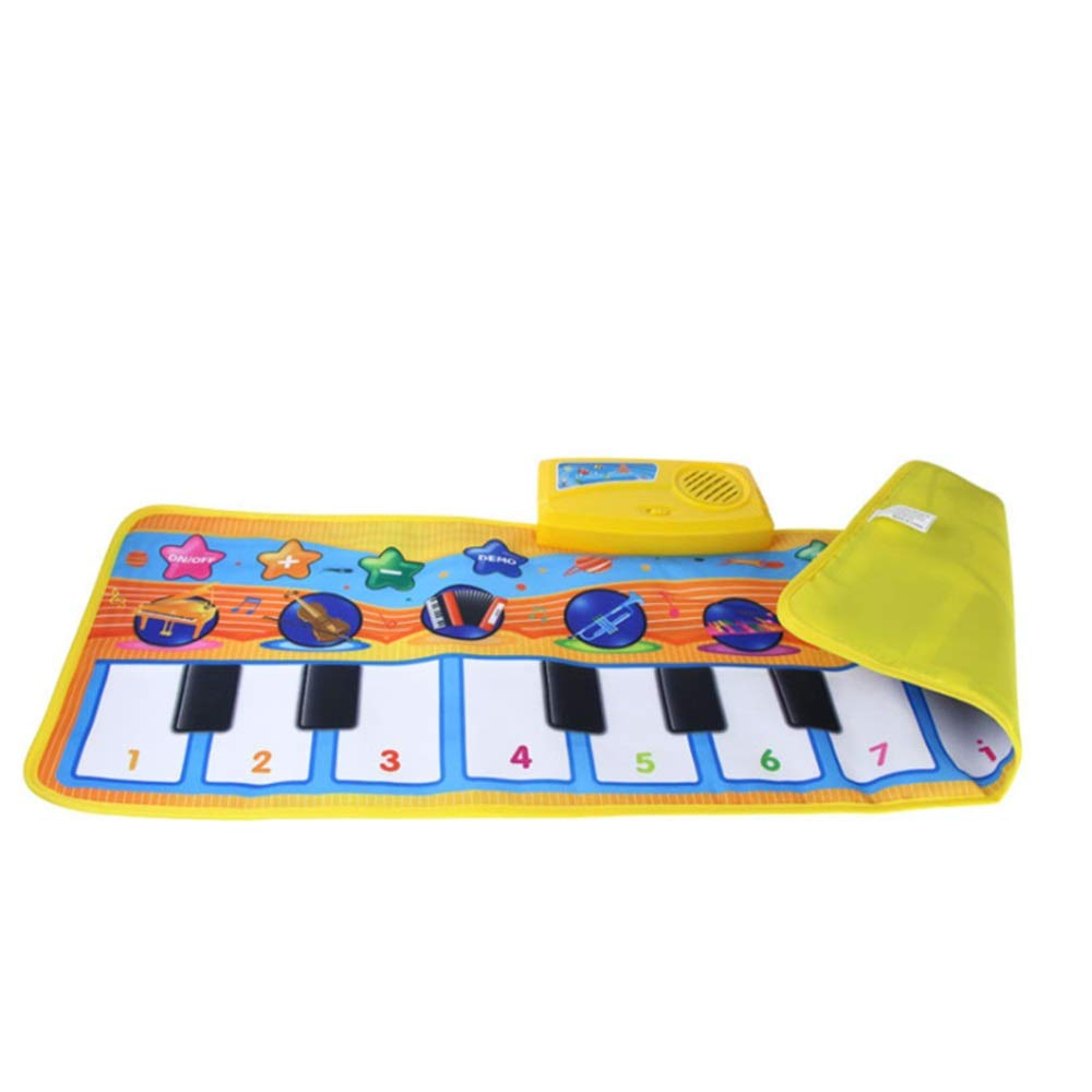 Play Keyboard Mat 32 Inches 10 Keys Electronic Musical Keyboard Playmat Foldable Floor Keyboard Piano Dancing Activity Mat Step And Play Instrument Toys For Toddlers Kids Children's Gift Different Mus by GAOCAN-gq (Image #6)