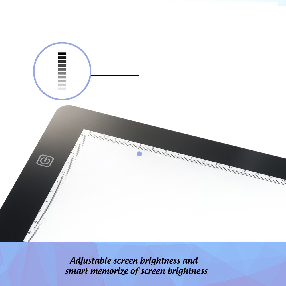 Amazon.com: XP Pen A4 18 Inches LED Art Craft Tracing Light Pad Light Box  Drawing Pad Light Table X Ray Pad(DC Power)