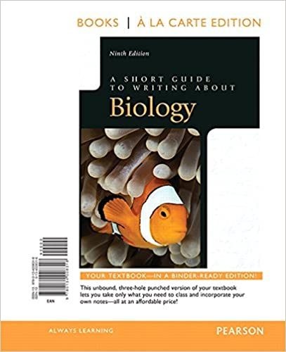 a short guide to writing about biology 4th edition pdf