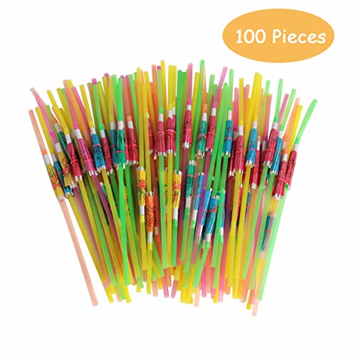 - SBYURE 100 Pieces Umbrella Parasol Drinking Straws,Disposable Bendable Tropical Drinking Straws for Hawaii Beach Party,Cocktail Luau Party Decorations Supplies,Bars, Restaurants,Mixed Color
