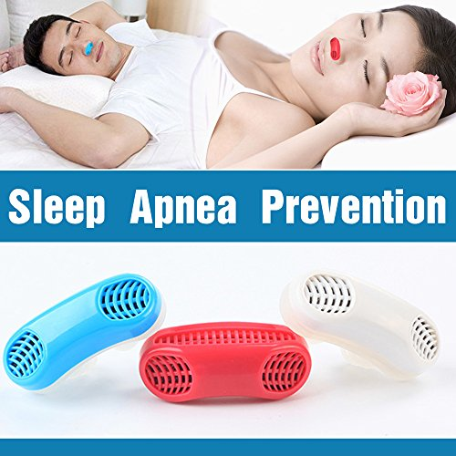E&S Health Advanced 2-in-1 Anti Snoring and Air Purifier Sleeping Breath Aid Nose Clip Snore Stopper to Ease Breathing Snoring,Natural and Comfortable Sleep (White)