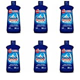 Finish Jet-Dry Rinse Aid, 16oz, Dishwasher Rinse Agent & Drying Agent, 6 pack