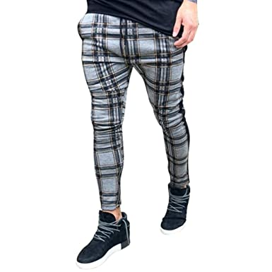 hibote Pantalones de chándal para Hombres Pantalones Deportivos ...