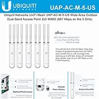 Ubiquiti UAP-AC-M-5 UniFi Mesh Wide-Area 802.11ac Dual-Band Access Point (5-Pack)