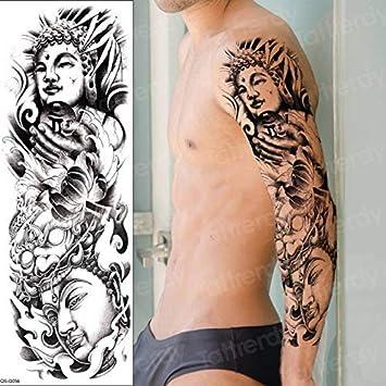 4 Unidades, Brazo De Manga Completa Tatuaje Temporal Cráneo Del ...