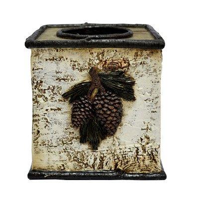 HiEnd Accents Pine Cone Birch Tissue Box
