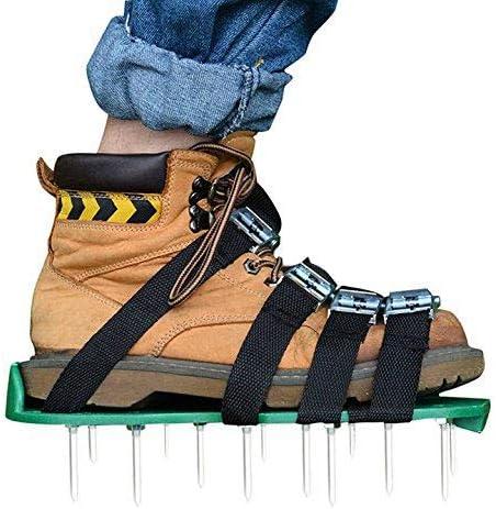 1 Paar Sandalen Nagelschuhe Rasenlüfter Werkzeug Rasenbelüfter Vertikutierer NEU