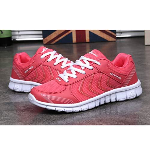 da C Scarpe Donna Uomo Sneakers Traspirante Maglia Sportive Running Scarpe da Unisex Gym Rosso Fitness Casual All'aperto Ginnastica Moda Coppia Scarpe 5fdqvxRwxz