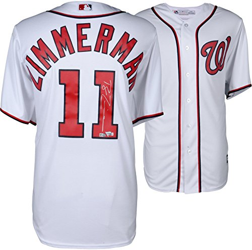 Ryan Zimmerman Washington Nationals Autographed Majestic White Replica Jersey - Fanatics Authentic Certified (Ryan Replica Jersey)