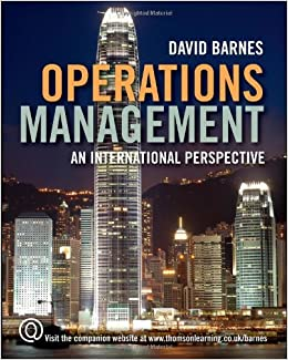 Operations Management by David Barnes (2007-12-14)
