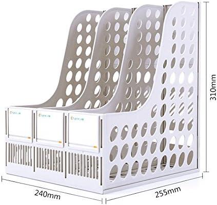TEET Stehsammler Auf dem Bürotisch Shelf-Ordner verwalten Shelf Plastic Three-Layer File Rack Office Tabletop Organizer (Color : Gray)