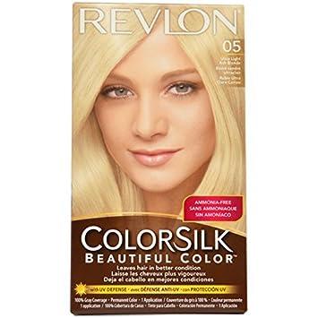 Revlon Colorsilk Permanent Color Ultra Light Ash Blonde 05, (Pack ...