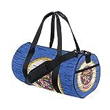 Distressed Minnesota State Flag Travel Duffel Shoulder Bag ,Sports Gym Fitness Bags