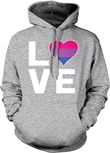 sexual Adult Hoodie Sweatshirt (Light Gray, X-Large) (Heart Pullover Hoody Sweatshirt)