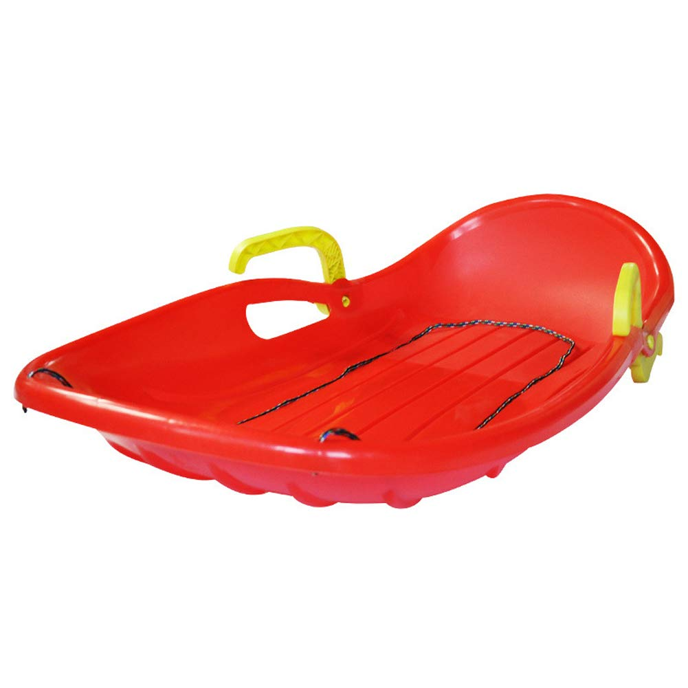 Wgwioo Traîneaux à Neige pour Enfants et Adultes en Plastique Sandboard Planche à roulettes Toboggan en traîneau à Neige pour Neige