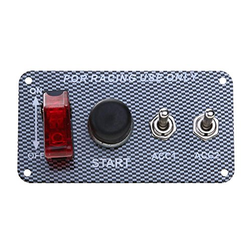 Childplaymate Racing Car Ignition Switch Panel Toggle Engine Start Push Button Led Toggle 12V Power Toggle Switch For Truck Racing