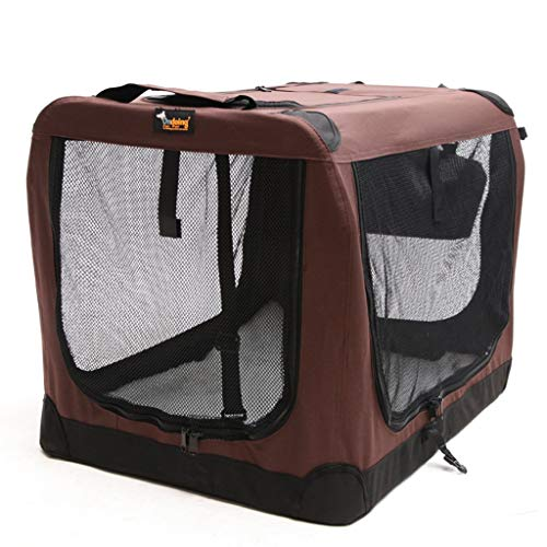 Houses & Habitats Dog Tent Car Transport Portable Kennel Collapsible Pet Delivery Room Medium and Large Dog Pet Tent Outdoor Pet Game Fence Indoor Cat Nest (Color : Brown, Size : 525270cm)