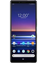 "Sony Xperia 1 with Alexa Hands-Free – Unlocked Smartphone – 128GB – Black – in 6.5"" 4K HDR OLED CinemaWide Display"