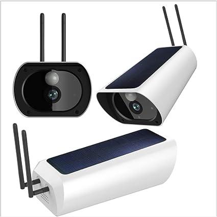 YFQH Cámara De Vigilancia Solar para Exteriores HD 1080p con ...