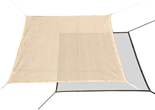 Alion Home HDPE 60 Sun Block Garden Netting Mesh for Plants Protecting – Beige 2, 10 x 20