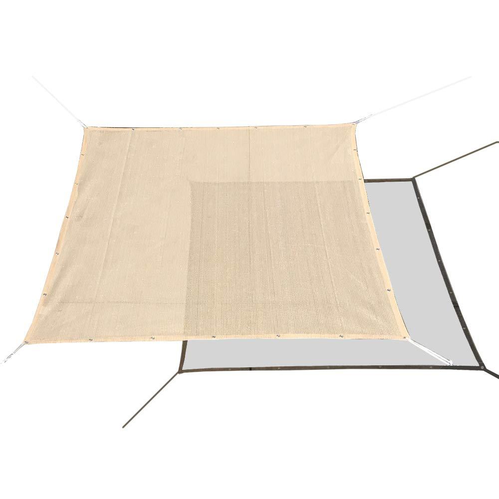 Alion Home HDPE 50% Sun Block Garden Netting Mesh - No Black Trim (6' x 4', Beige)