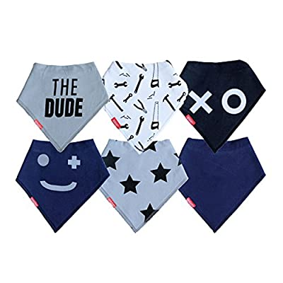 "Baby Bandana Drool Bibs | 6 Pack ""THE DUDE"" Set For Boy by Oak & Navy ..."