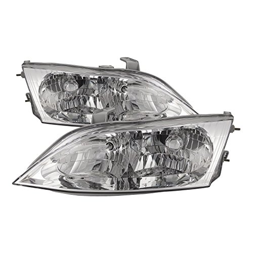HEADLIGHTSDEPOT Compatible with Lexus ES300 Halogen-type New Replacement Headlights Set Headlamps Pair ()