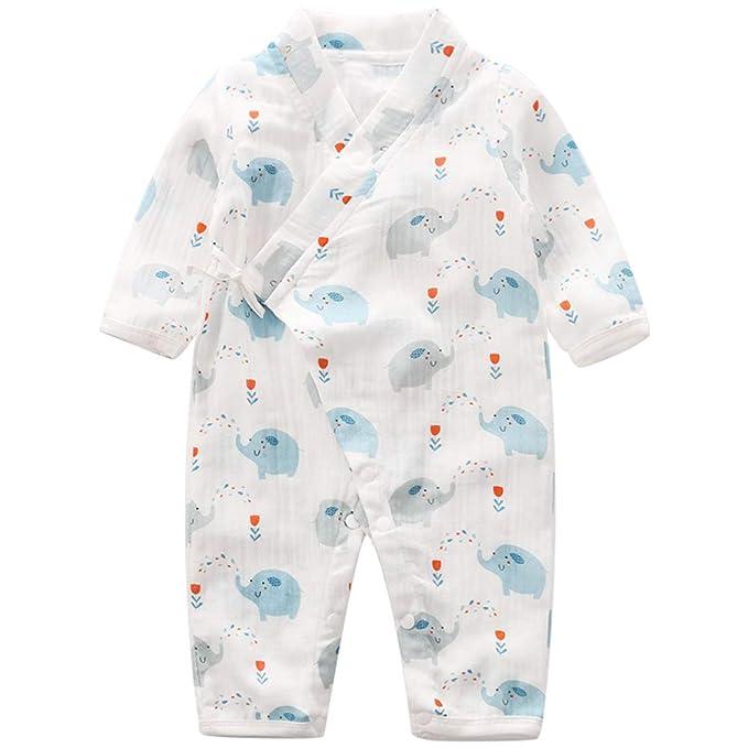 53d887a4f9044 Baby Kimono Romper Cotton Yarn Robe Newborn Infant Bodysuit Summer Japanese  Pajamas