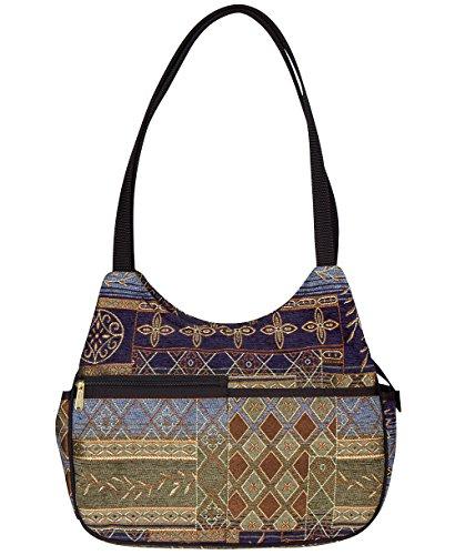 Danny K. Women's Tapestry Bag Shoulder Handbag, Mona Purse Handmade in the USA (Neptune Blue)