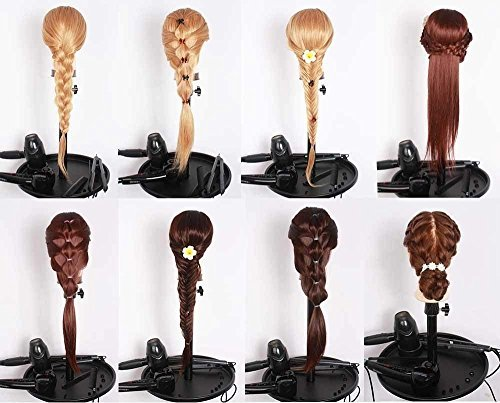 Mannequin Head, Beauty Star 20 Inch Long Gold Hair Cosmetology Mannequin Manikin Training Head Model Hairdressing Styling Practice Training Doll Heads with Clamp and Accessories by Beautystar (Image #7)