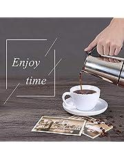 موقد قهوة قهوة قهوة اسبريسو من الفولاذ المقاوم للصدأ سعة 450 مل من مينستياي - وعاء قهوة قهوة قهوة قهوة قهوة قهوة قهوة قهوة - وعاء موكا