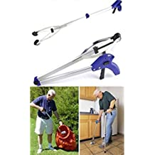 Elsley Folding Helping Hand Long-Reach Pick-Up Gripper Garbage Pickup - Light Weight Aluminum Body(Blue) by Elsley