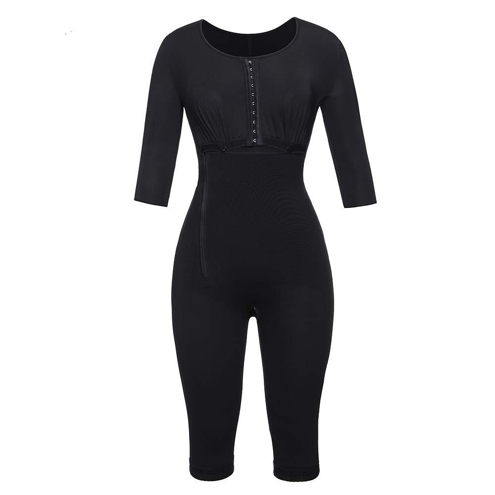 lvh Waist Trainer Post-Surgery Full Body Arm Shaper Body Suit Powernet Girdle Black Waist Trainer Corsets Slimming Shapewear (S)
