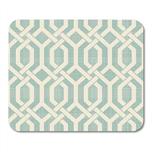 Mouse Pads Beige Abstract Moroccan Pattern in Retro Colors on Ethnic Arabic Indian Motifs Ceramic Linoleum Creative Mouse Pad for notebooks,Desktop Computers mats 7.2 x 8.7 Office ()