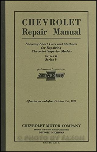1926 chevrolet wiring diagram wiring diagrams Chevrolet Key Fob Programming 1925 1926 chevrolet repair shop manual reprint chevrolet amazon1925 1926 chevrolet repair shop manual reprint chevrolet