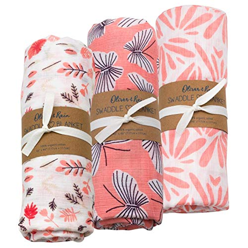 Oliver Rain Floral Butterfly Swaddle product image