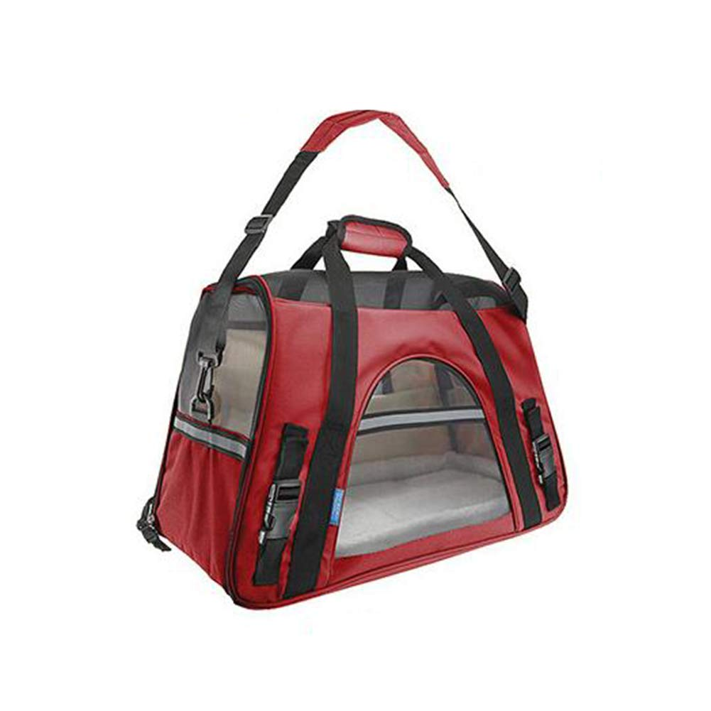 H&YL Pet Carrier Dogs & Cats, Portable Soft-Sided Air Travel Bag Small Medium Dog Cat Bag Waterproof Pet Car Seat Travel Collapsible Soft Side Dog Crate Kennel Puppies 48  25  33Cm,C2