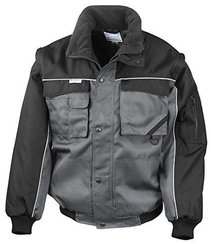 Risultato Workguard con chiusura Zip resistente, Giacca da pilota, colore: grigio/nero, taglia XL
