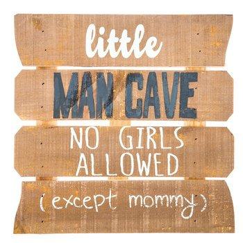 Little Man Cave Wood Decor Baby Shower Decoration Party Supplies