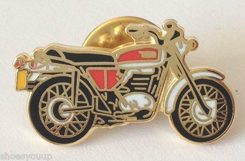 Classique B.S.A. Super vélo Moto De Sport Motard Moto Badge Épinglette En Émail
